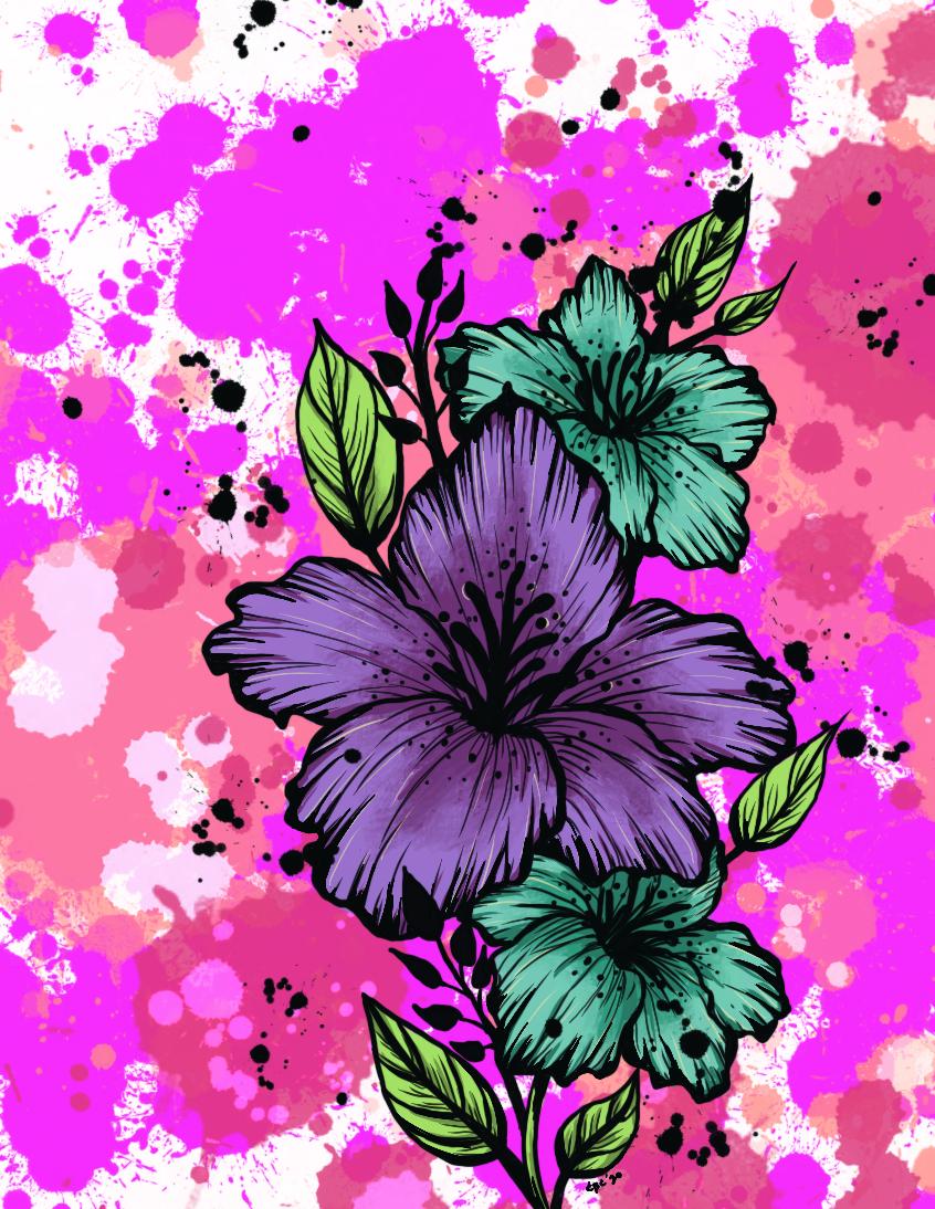 Custom artwork flower