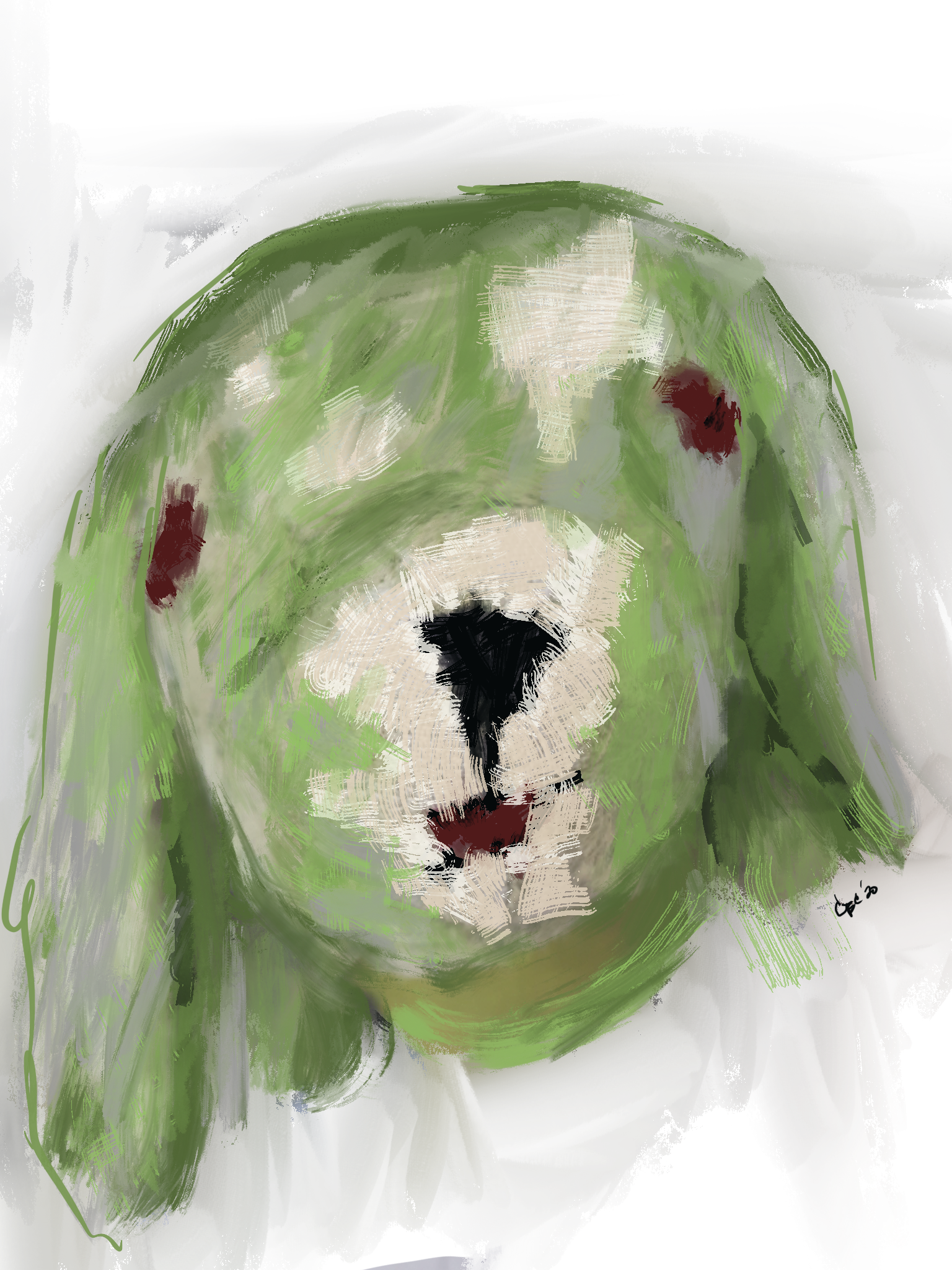 Custom artwork stuffed animal