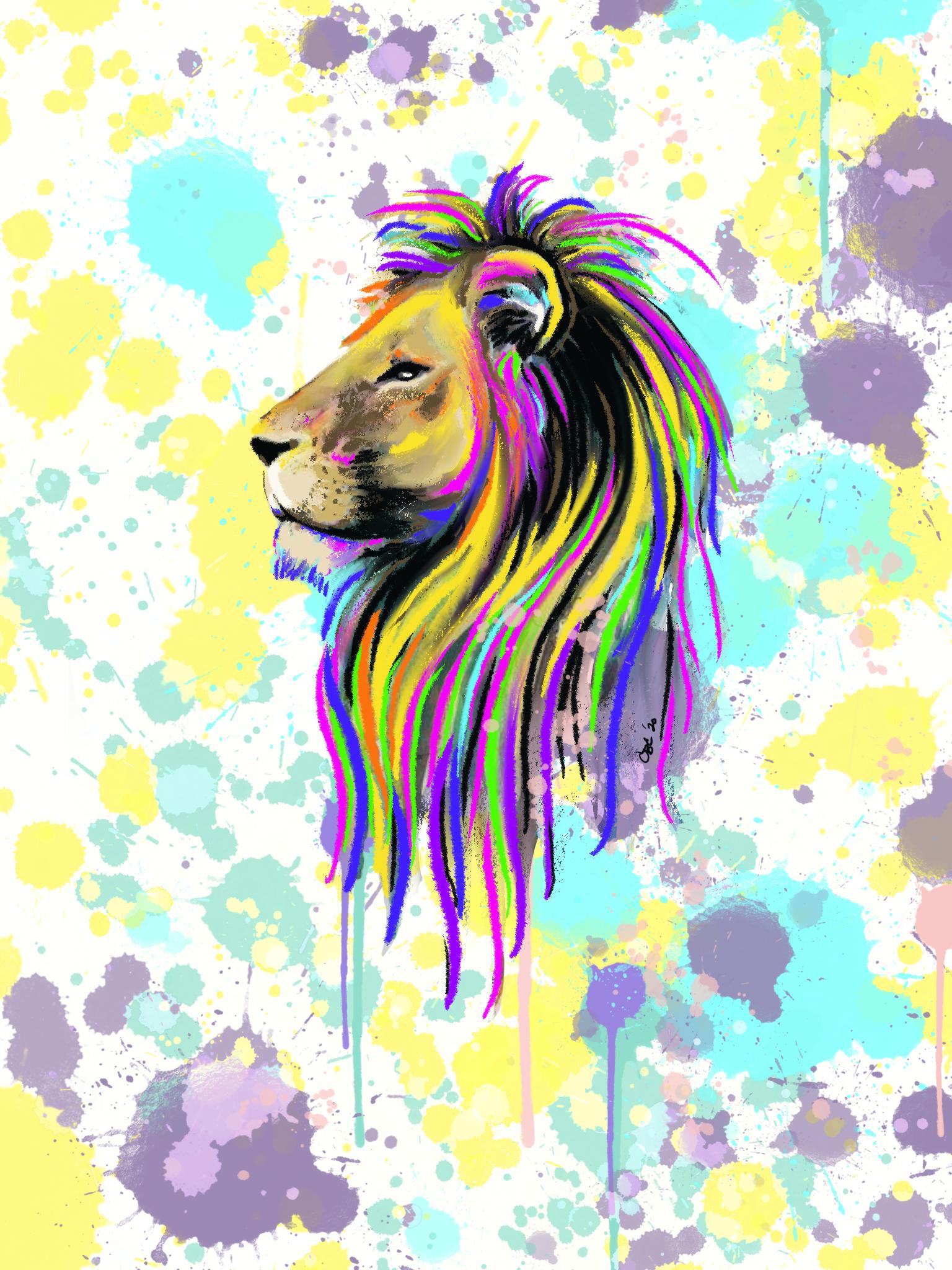 Custom Lion artwork