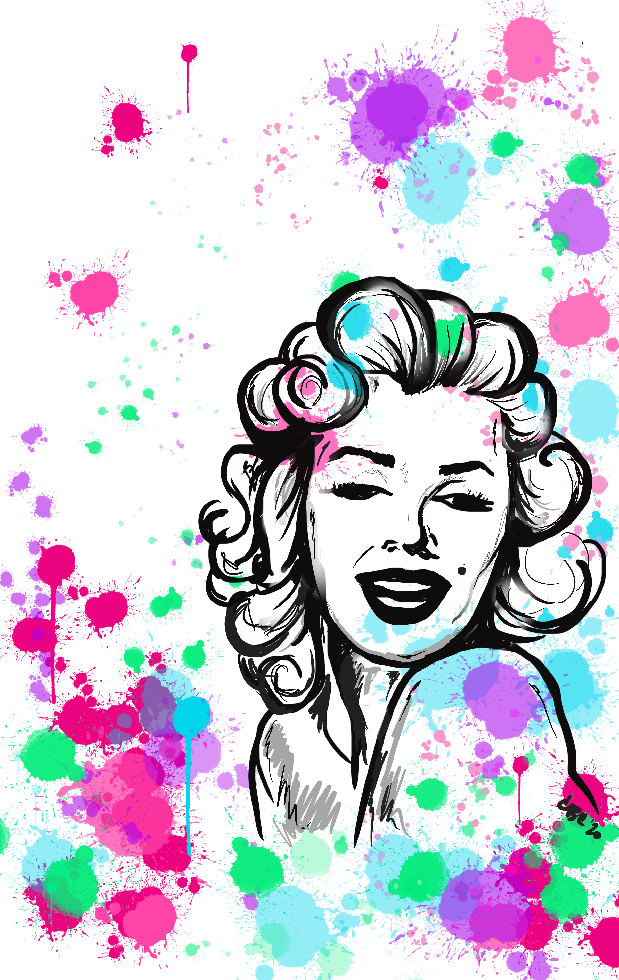 Custom artwork Marilyn Monroe