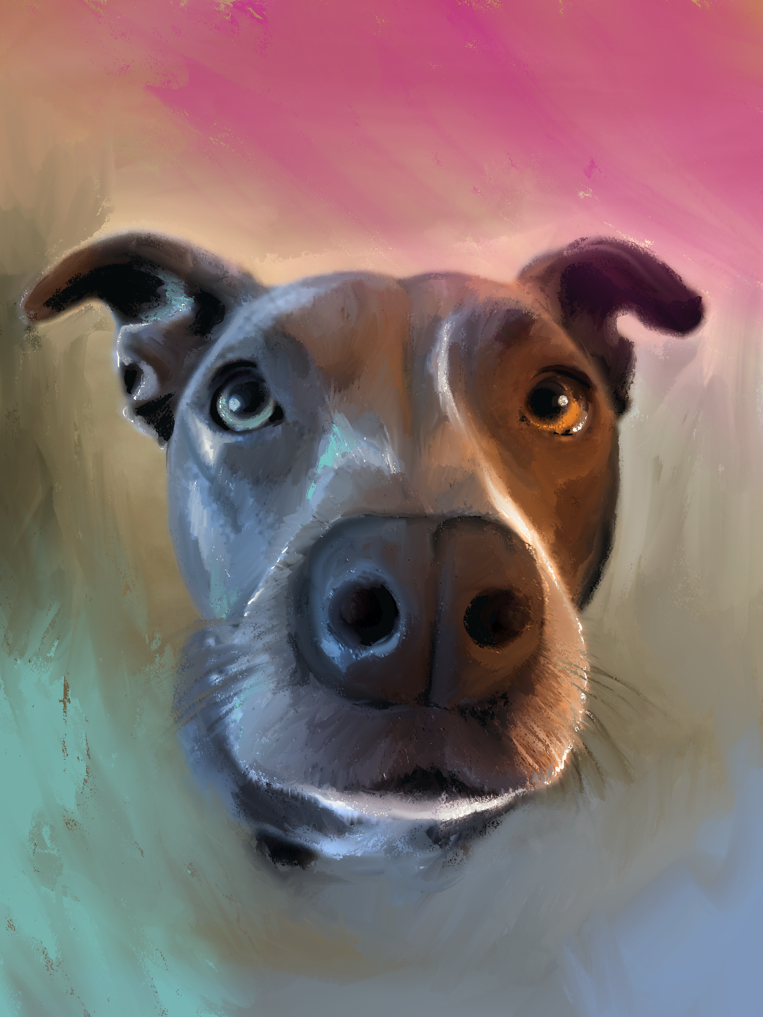 Custom artwork dog