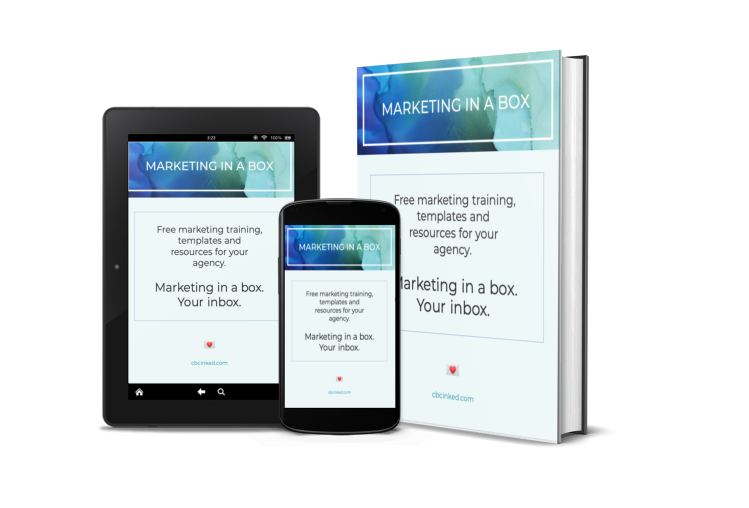 Marketing in a box ebook by CBCInked